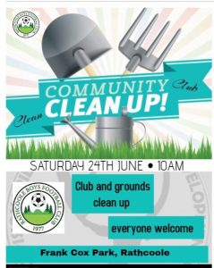 Rathcoole Boys Community Clean Up