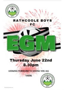 Rathcoole Boys EGM.